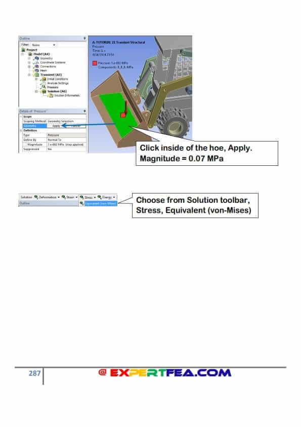 transient structural analysis in ansys workbench tutorial pdf